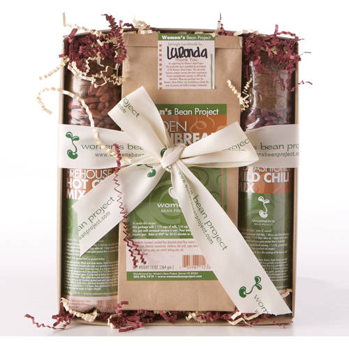 Women's Bean Project Two Chili Mixes and Cornbread Mix Gift Set