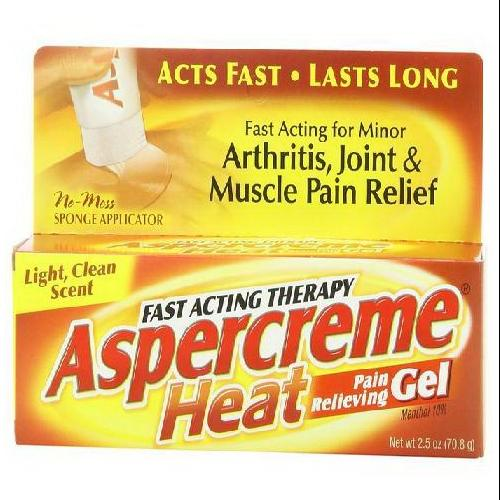 Aspercreme Heat Fast Acting Therapy Pain Relieving Gel - 2.5 Oz
