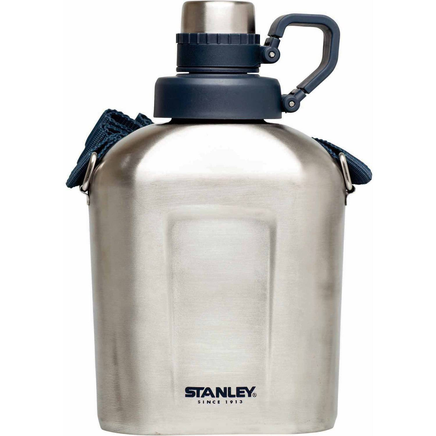 Stanley Adventure Steel Canteen, 1.1qt, Stainless Steel