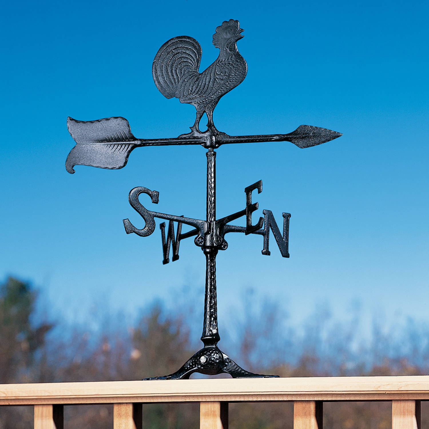 24 Rooster Accent Weathervane, Black