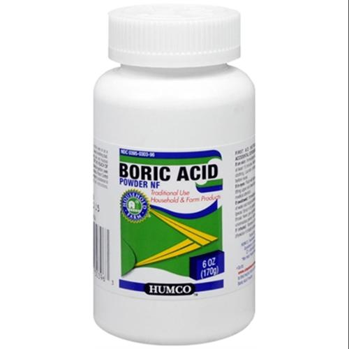 Humco Boric Acid Powder NF 6 oz (Pack of 4)
