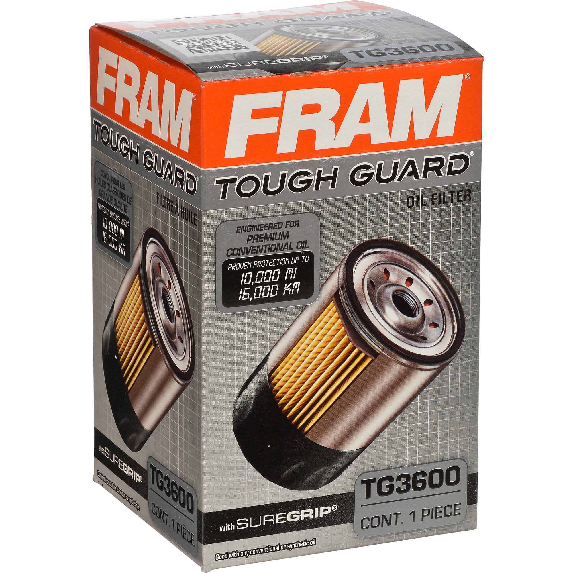 FRAM Tough Guard Oil Filter, TG3600