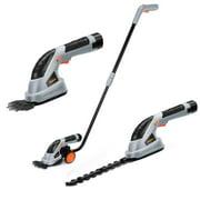 VonHaus 3-in-1 Cordless Grass Shears / Hedge Trimmer - Handheld & Wheeled Extension Handle