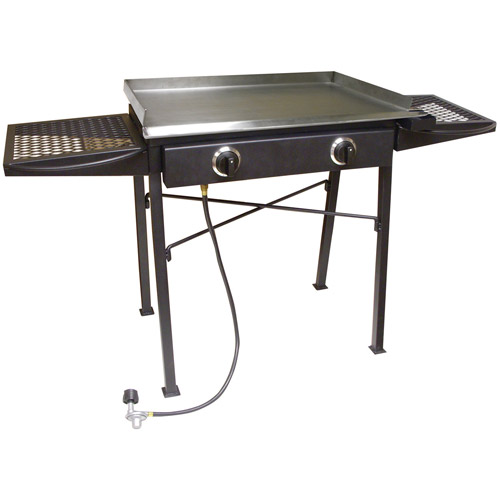King Kooker Double Low Pressure Campstove with Stainless Steel Griddle