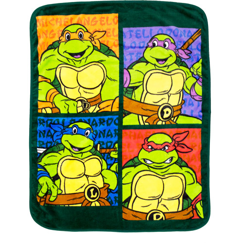 "Nickelodeon Teenage Mutant Ninja Turtles 40"" x 50"" Toddler Blanket"