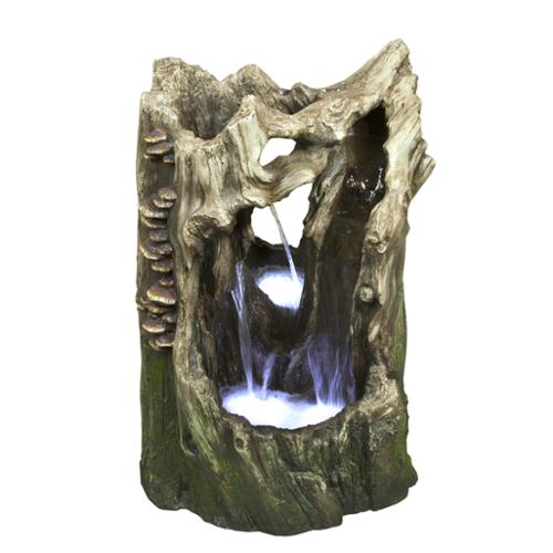 22-inch Cascading Tree Trunk Rainforest Fountain