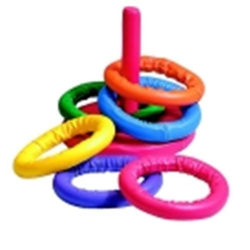Sportime Soff-Ring Toss Game, Set 6 Rings & 1 Base With Post