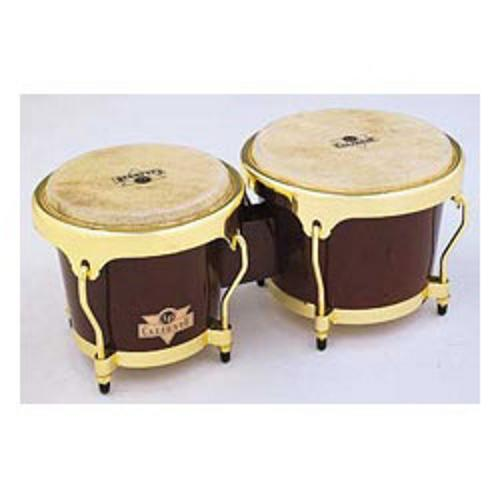 Latin Percussion LC701DWG Caliente Bongos (Dark Wood) by LP