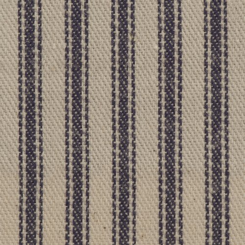 ACA Soft Stripe Ticking, Blue/Natural