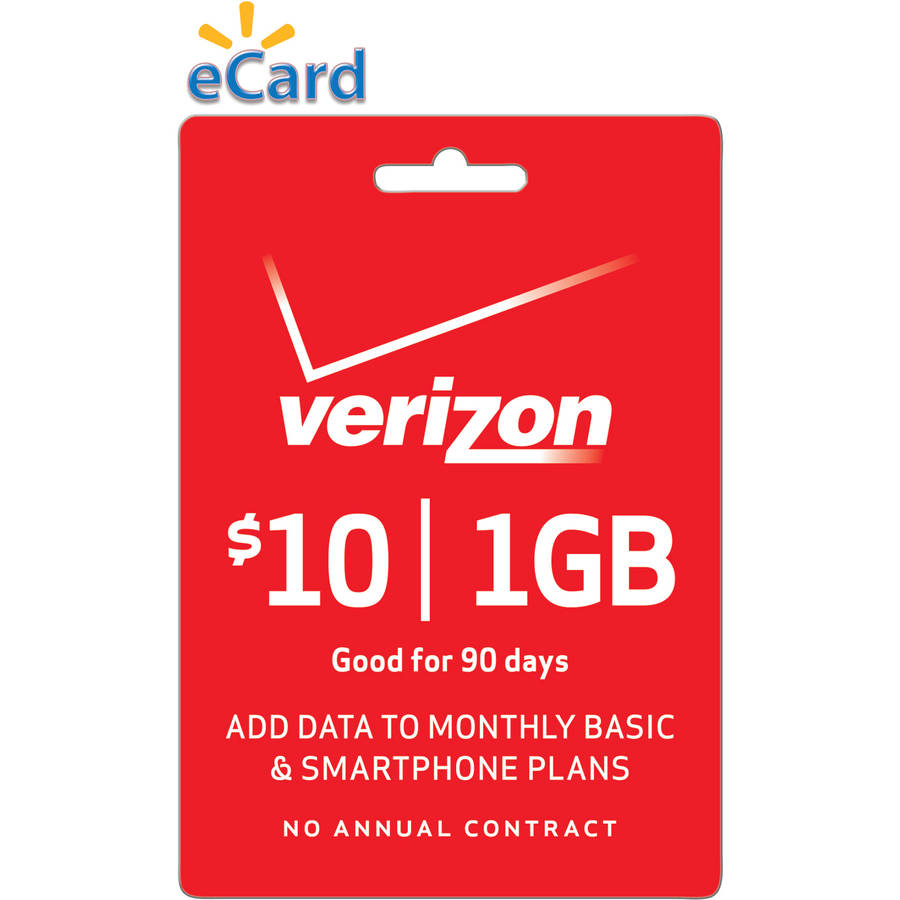 (Email Delivery) Verizon Data Add-On $10 Card