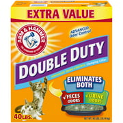 Arm & Hammer Double Duty Advanced Odor Control Clumping Litter 40 lbs. Box