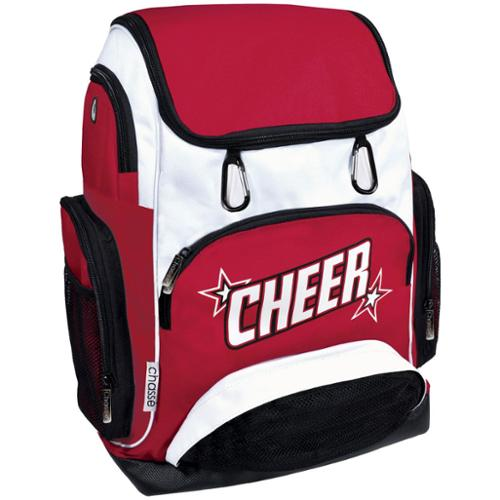 "Chasse Girls' Cheer Weekender Backpack With 2 Color Logo And Stars - Red Size - 17"" x 11"" x 16"""