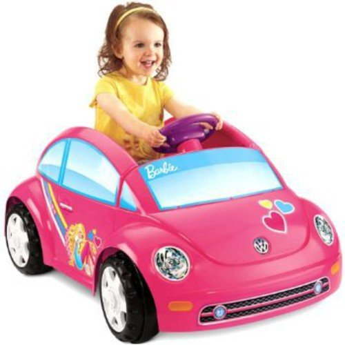 Fisher-Price Power Wheels Barbie Volkswagen New Beetle 6-Volt Battery-Powered Ride-On