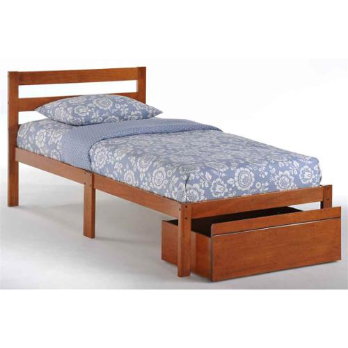 35 in. Bed in Cherry Finish