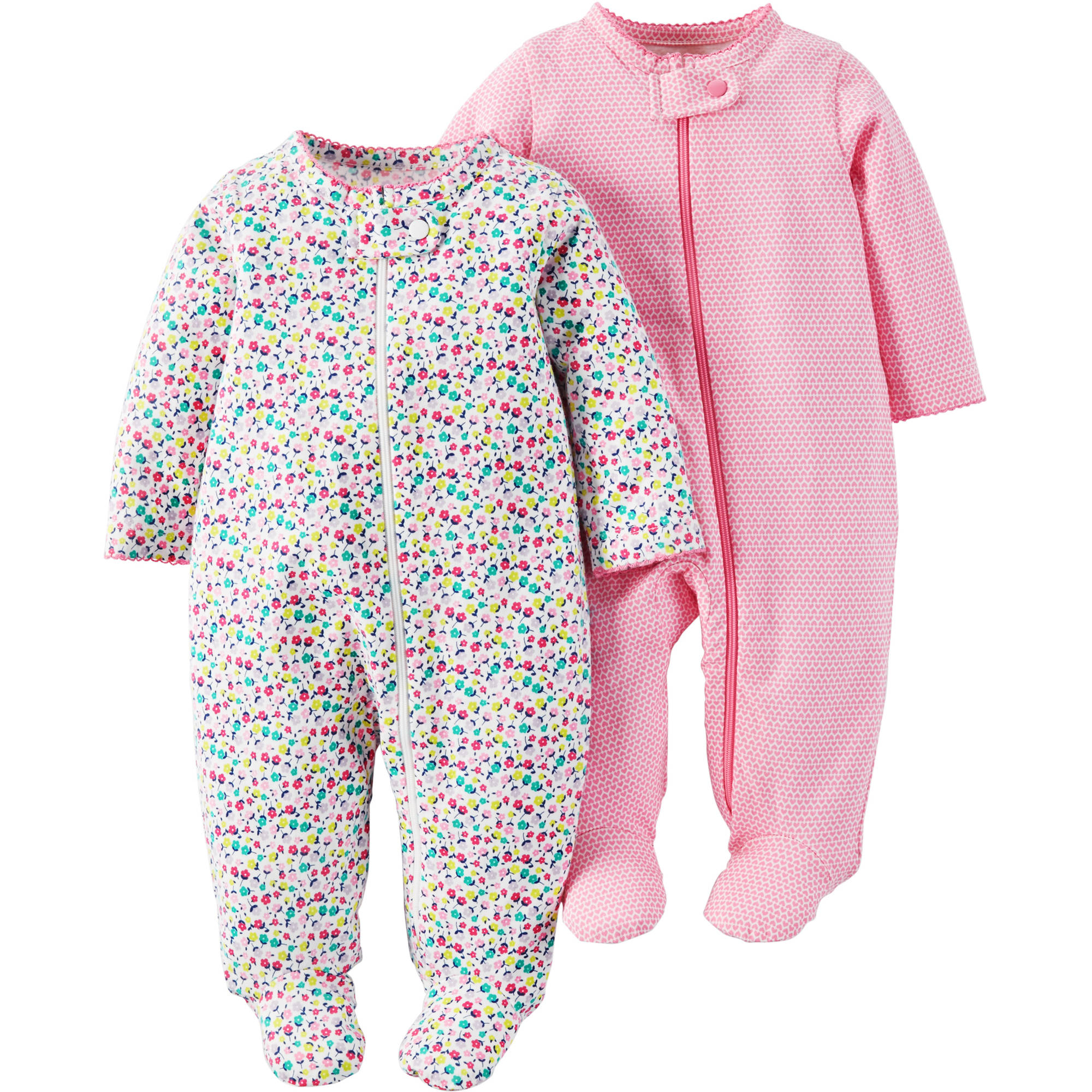 Child Of Mine by Carter's Newborn Baby Girl Sleep N Play, 2-Pack
