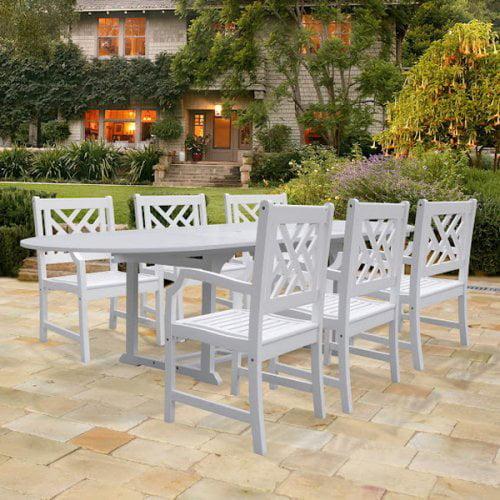 Bradley Latticeback Oval Extension Dining Set - Seats 6