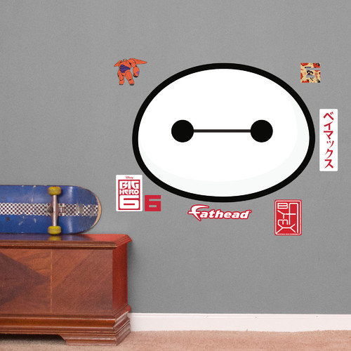 Fathead Disney - Baymax Face Junior Peel and Stick Wall Decal
