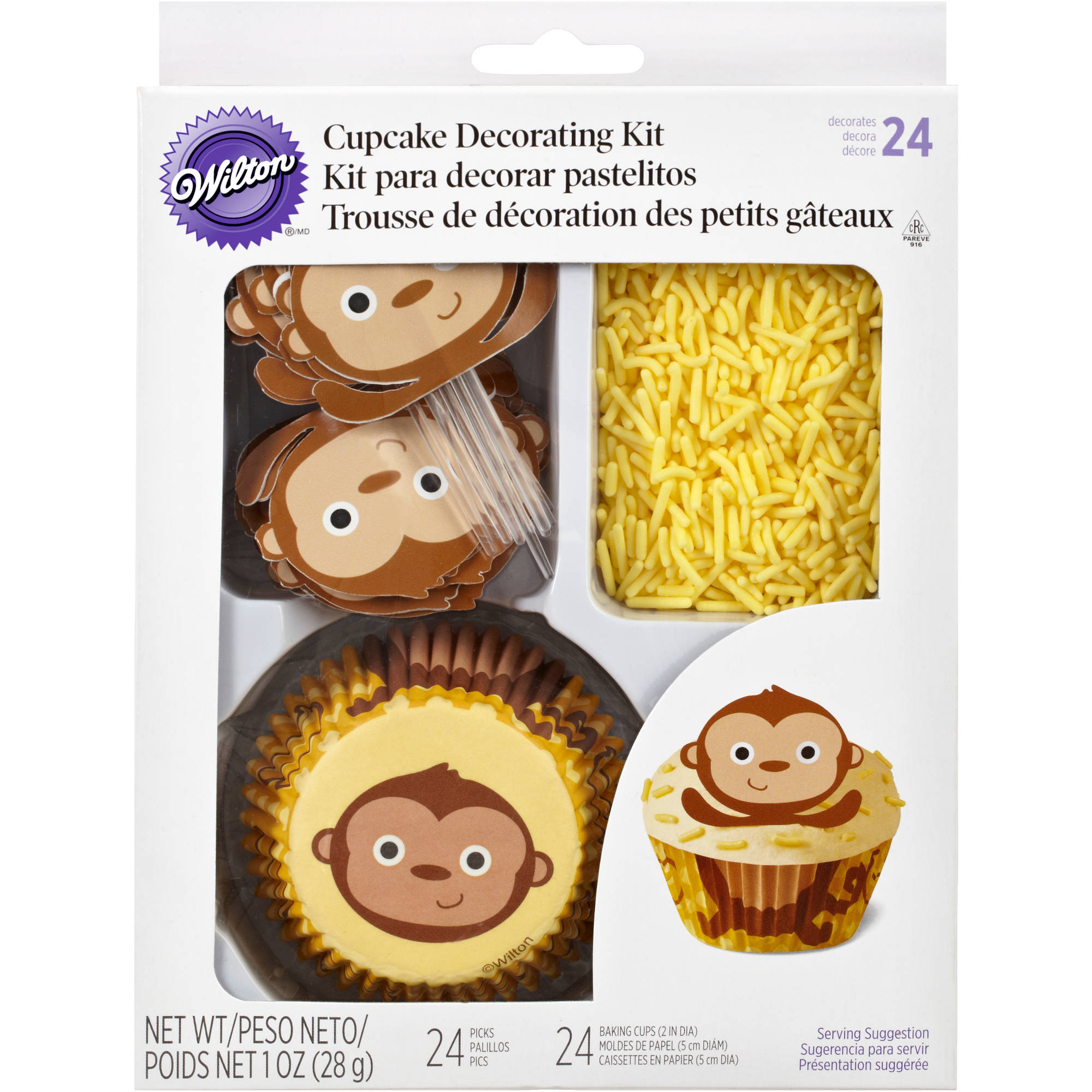 Wilton Cupcake Decorating Kit, Monkey 24 ct. 415-2198