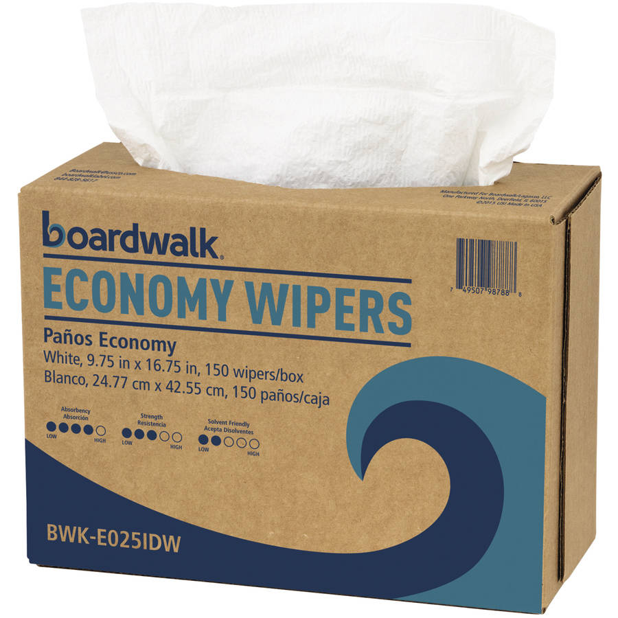 Boardwalk Economy Wipers, White, 900 count