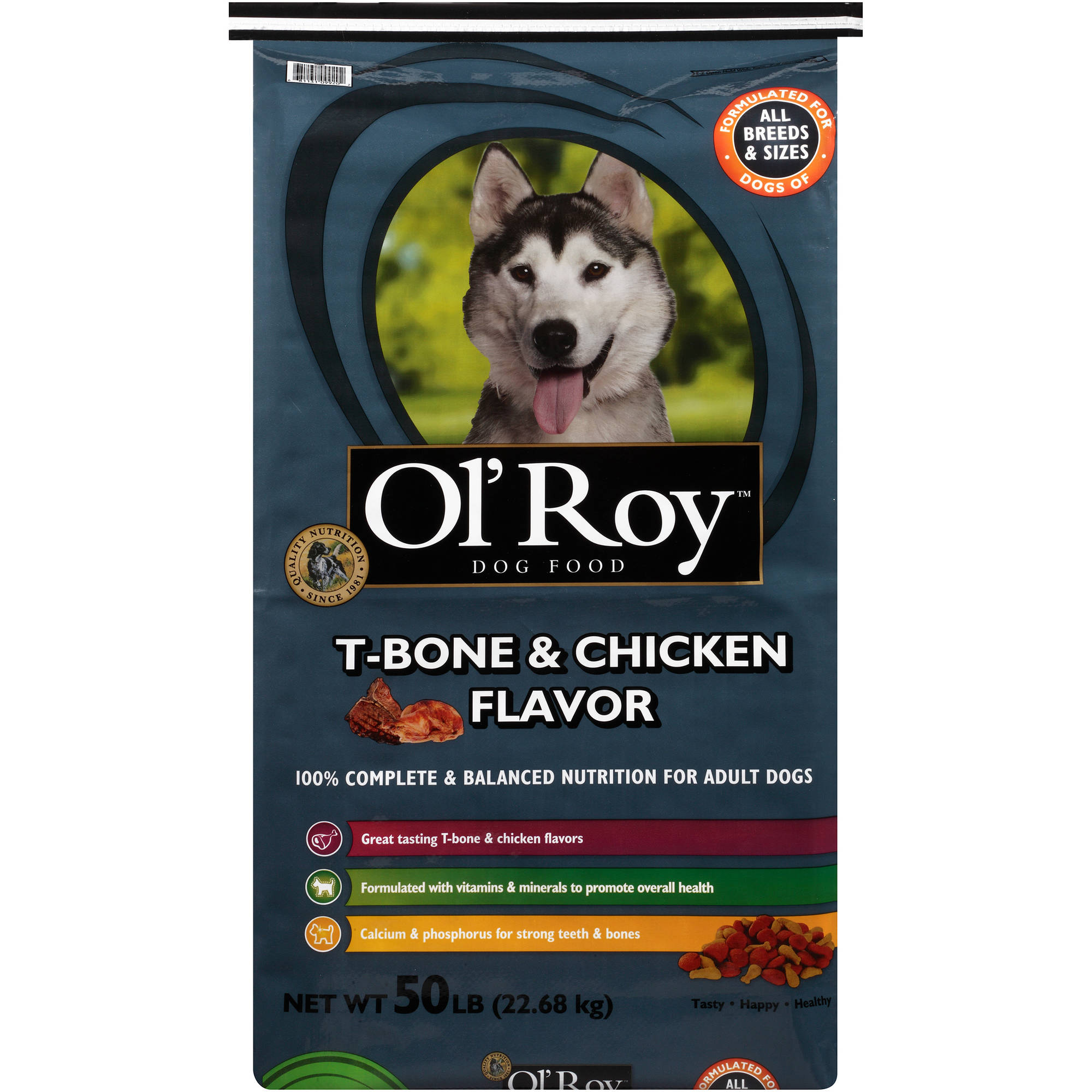 Ol' Roy T-Bone & Chicken Flavor Dog Food, 50 lbs