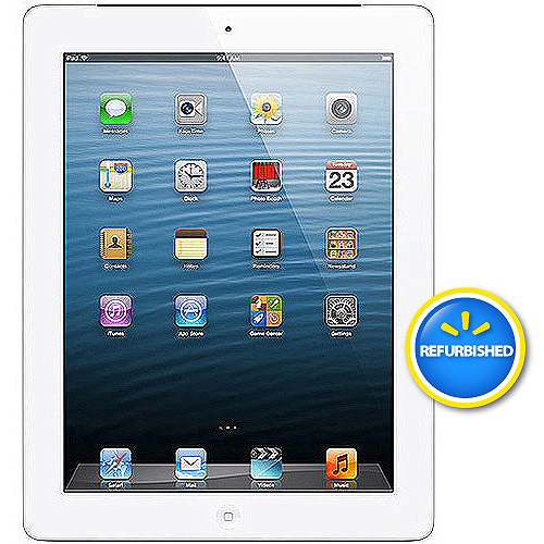 Apple iPad with Retina display 64GB Wi-Fi Refurbished, (Black or White)