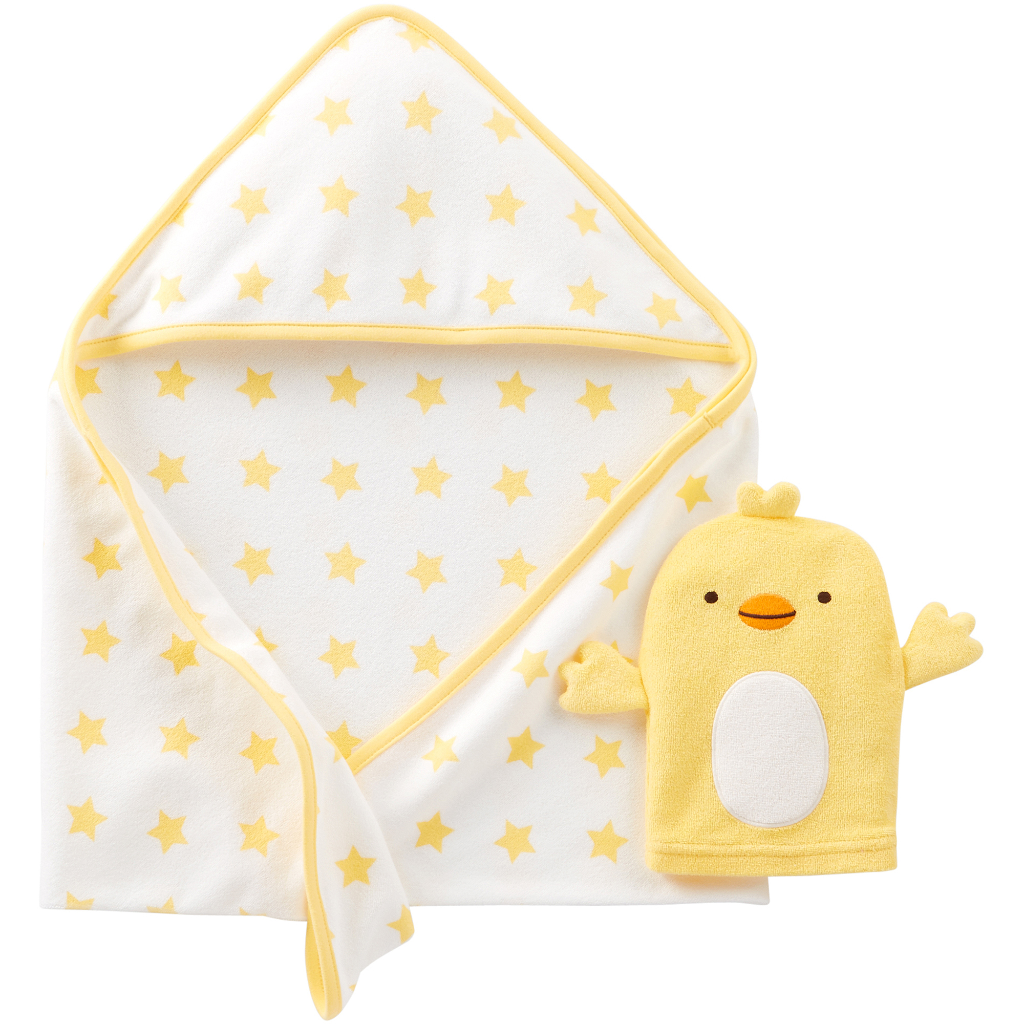 Child of Mine By Carters Newborn Hooded Towel and Bath Mitt Gift Set