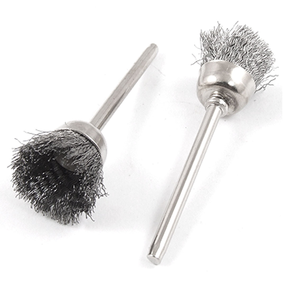 5x 3mm Mandrel 15mm Dia Rotary Tool Steel Wire Cup Brush Brushes