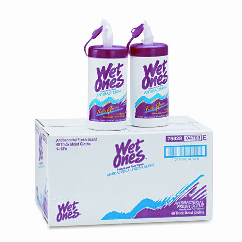 UNITED FACILITY SUPPLY                             Wet Ones Antibacterial Moist Towelettes, 12/Carton