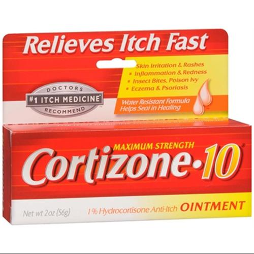 Cortizone-10 Maximum Strength Anti-Itch Ointment 2 oz (Pack of 6)