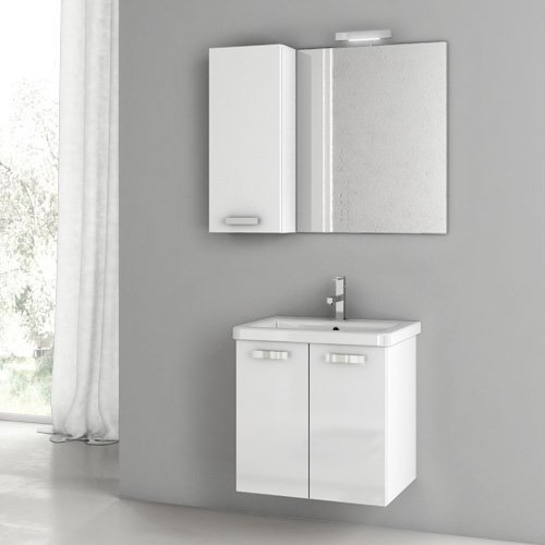 ACF by Nameeks ACF CP06-GW City Play 22-in. Single Bathroom Vanity Set - Glossy White