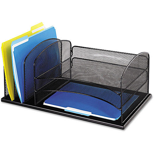 Safco Desk Organizer, Black