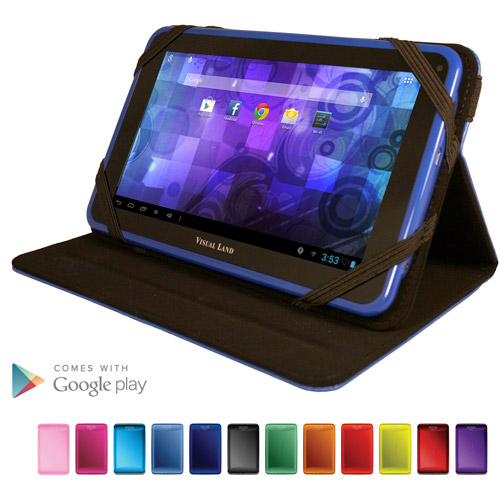 "Visual Land Prestige 7"" Tablet 8GB Memory with Bonus Case"