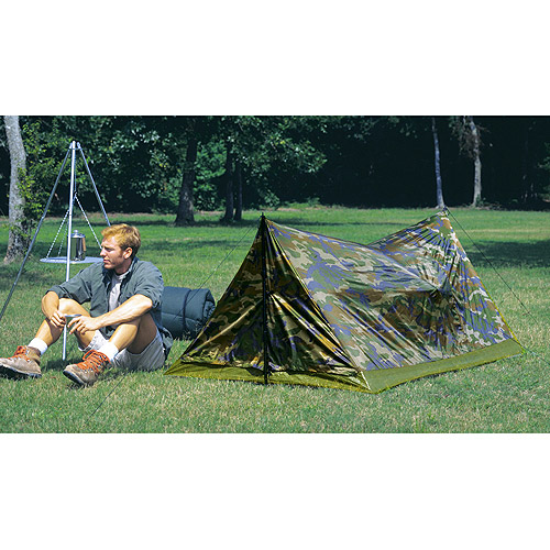 "Texsport Camouflage 7' x 4'6"" x 38"" Trail Tent, Sleeps 2"