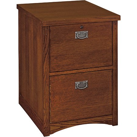 Mission 2-Drawer Vertical File Cabinet, Oak