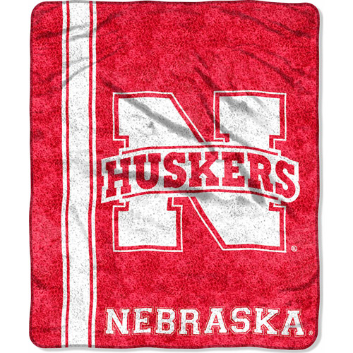 "NCAA 50"" x 60"" Sherpa Throw, Nebraska"