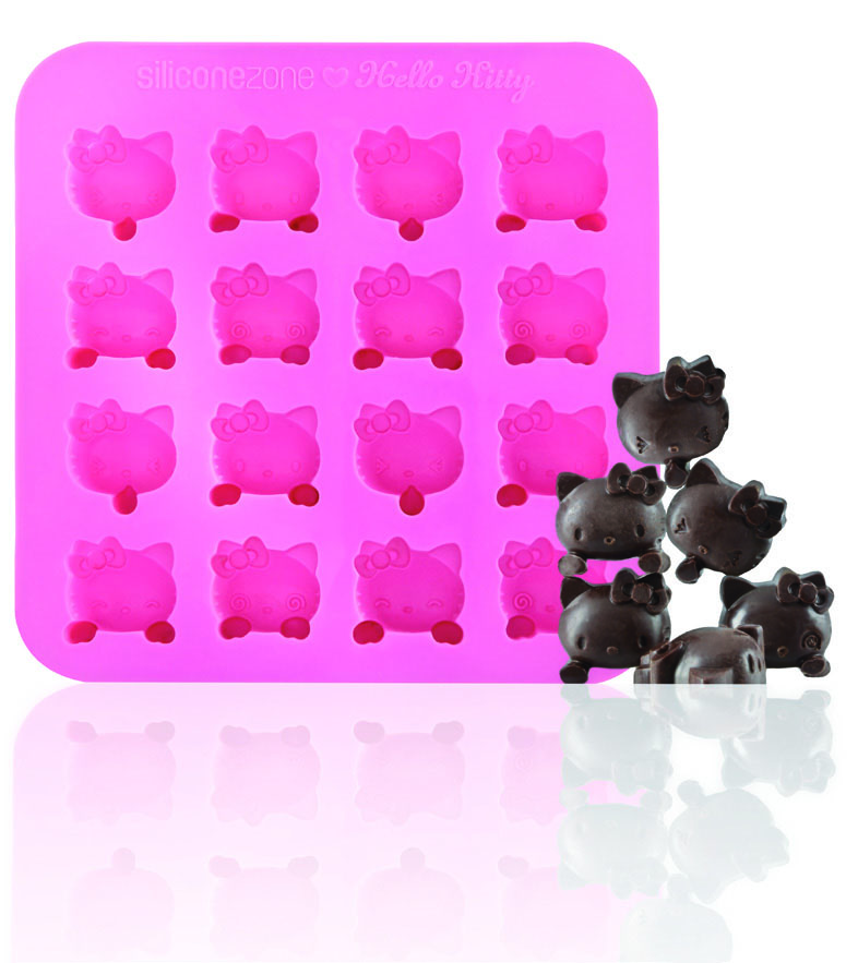 Silicone Zone Hello Kitty, Chocolate Mold, Pink