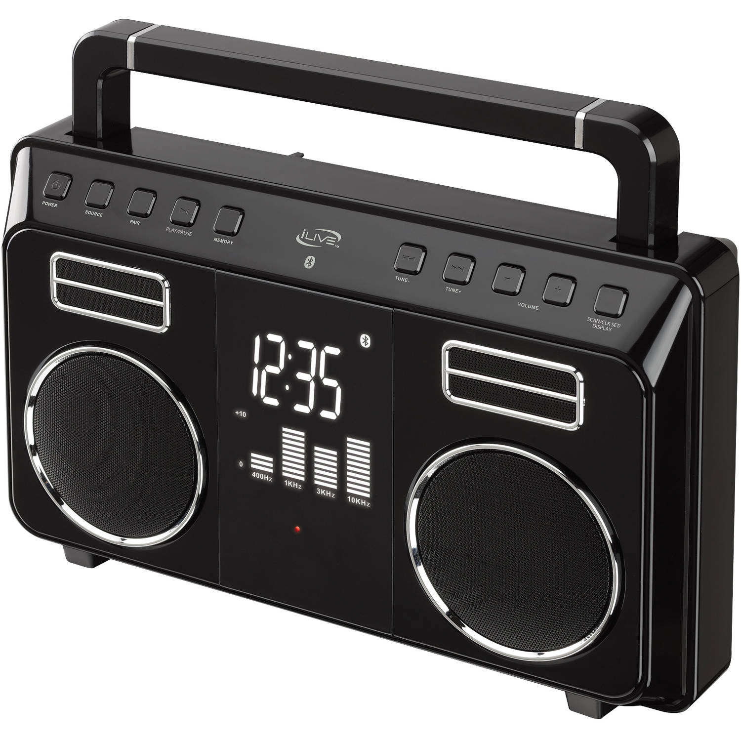 iLive Bluetooth Retro Portable Boombox, iBB683B