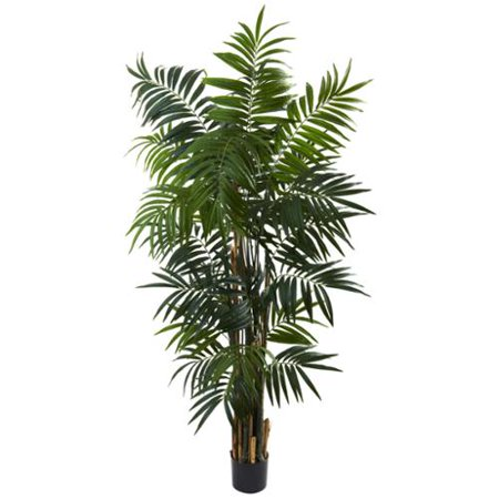 Nearly Natural 6-foot Bulb Areca Palm Tree Decorative Plant