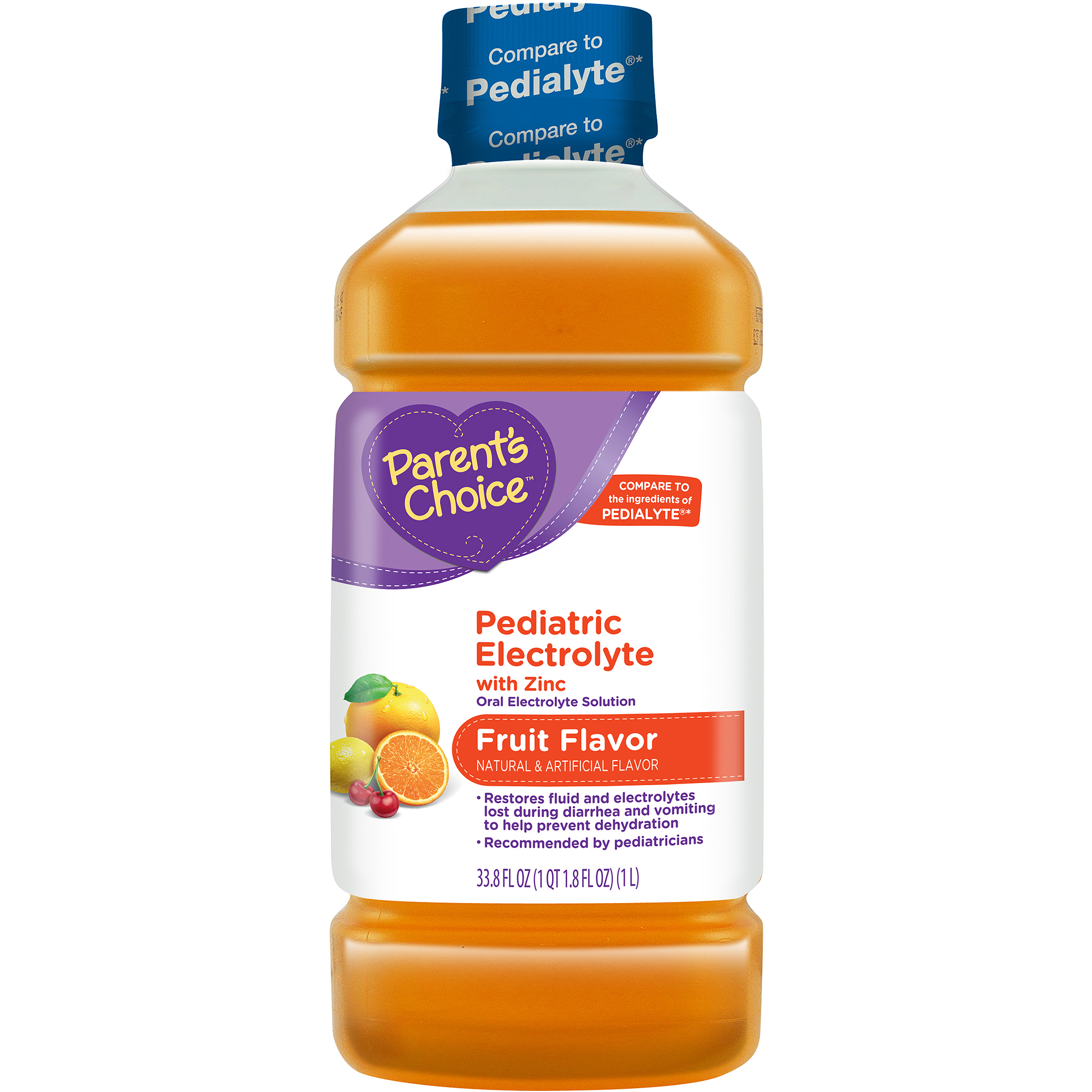Parent's Choice - Pediatric Electrolyte Drink, Fruit Flavored, 1 liter