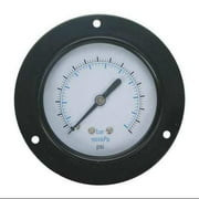 4FND1 Panel Vacuum Gauge, Front Flange, 3 1/2 In
