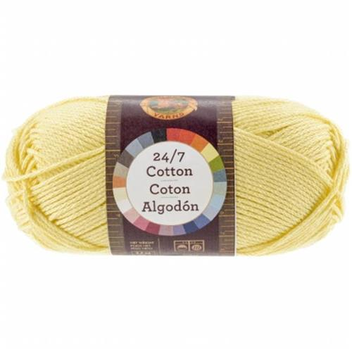 Lion Brand 761-157 24&7 Cotton Yarn - Lemon