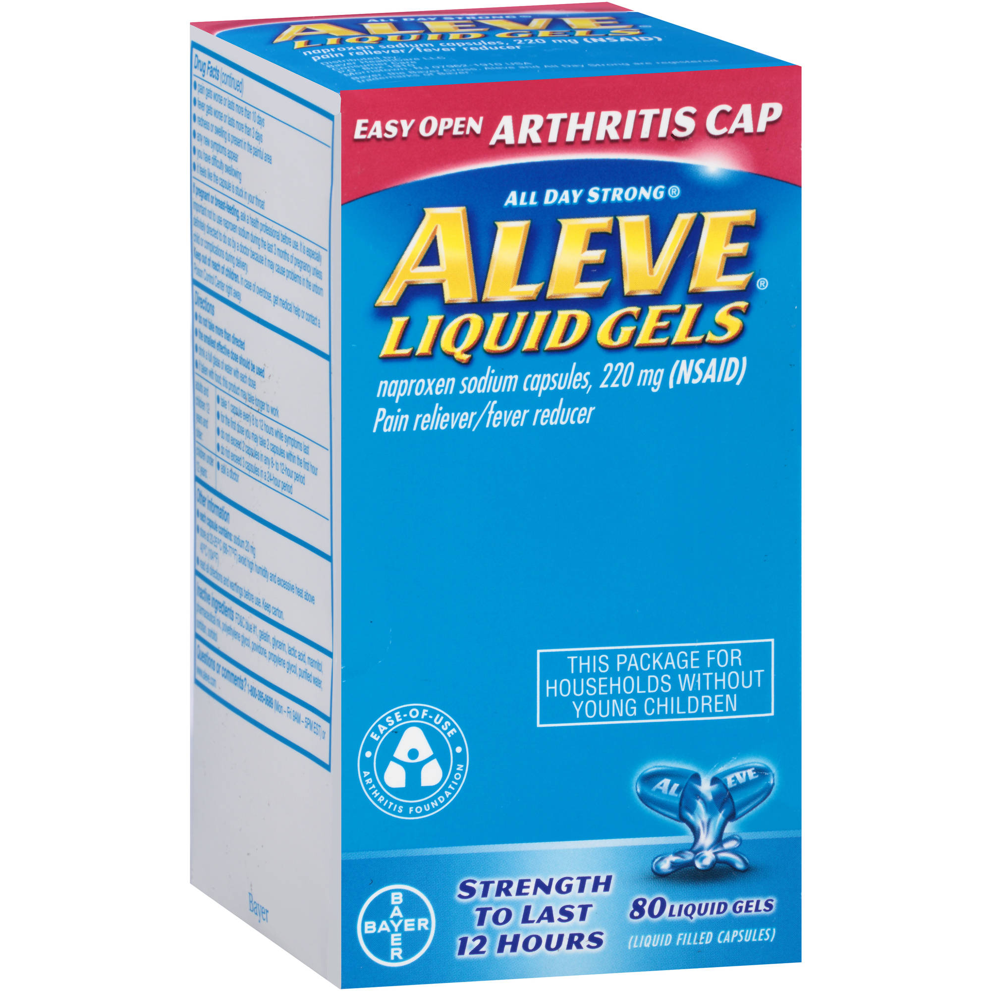 Aleve Arthritis Naproxen Pain Reliever/Fever Reducer 220mg, 80ct