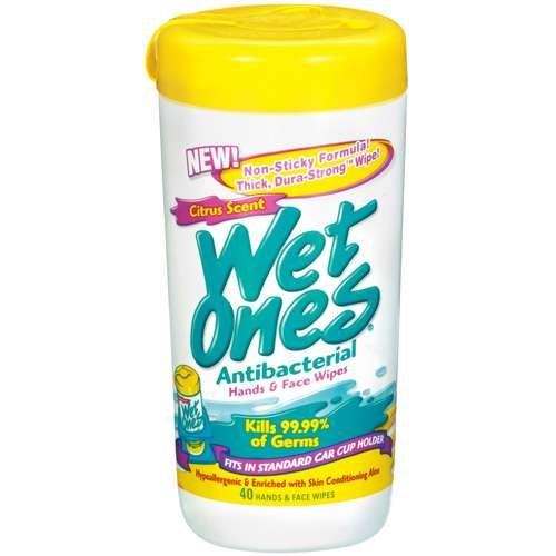 Wet Ones Antibacterial Citrus Scent Canisters 40 Ct