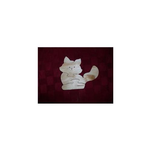 Fine Crafts 27 4 Piece Wooden Cat Jigsaw Puzzle