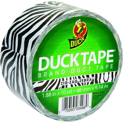 "Duck Brand Duct Tape, 1.88"" x 10 yard, Zebra"