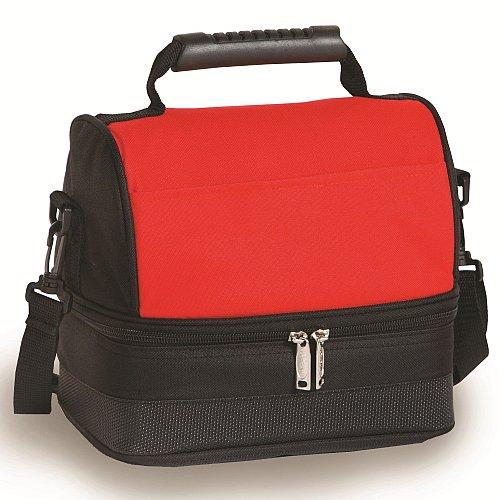 CLASSIC FULLY INSULATED LUNCH TOTE BAG - RED