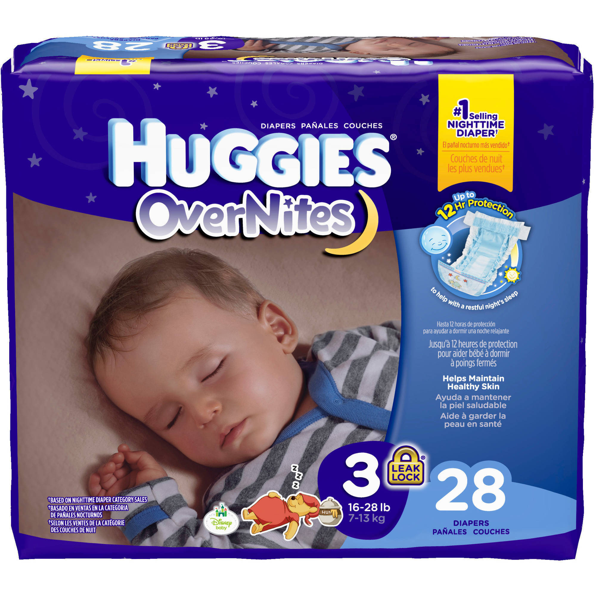 HUGGIES OverNites Diapers, Jumbo Pack (Choose Your Size)