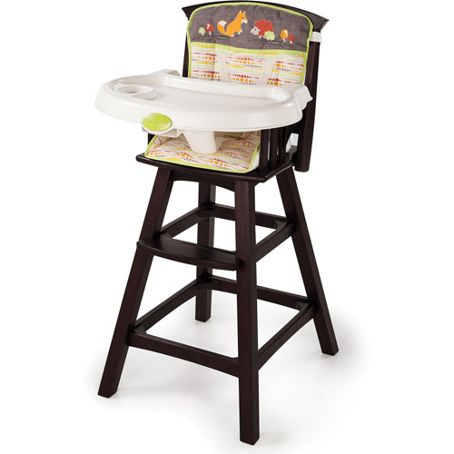 Summer Infant Classic Comfort Wood High Chair, Fox & Friends