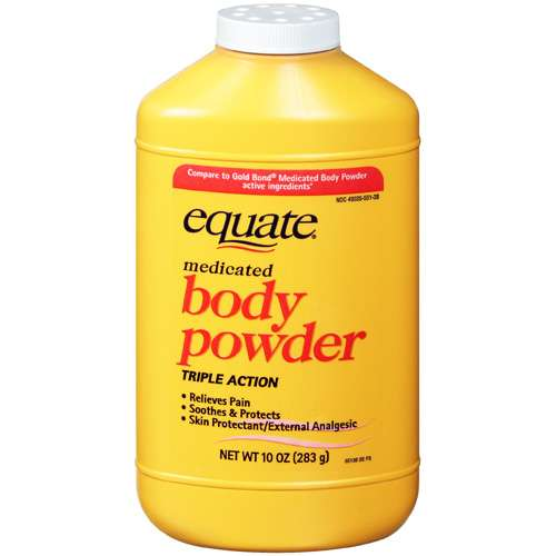 Equate Medicated Body Powder, 10 oz