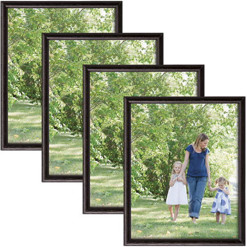 "8"" x 10"" Black Bullnose Frame, Set of 4"
